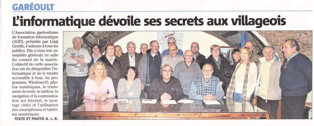 Formation informatique et internet à Garéoult